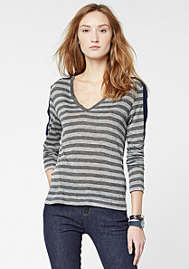 Lacoste Striped tee-shirt with silk Women