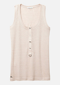 Lacoste Plain buttoned tank top Women