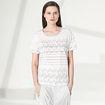 Lacoste Fashion Show patterned tee-shirt Women