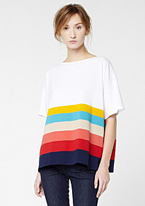 Lacoste Tee-shirt with multi-coloured stripes Women