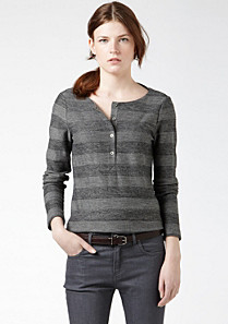 Lacoste Wool and cotton striped tunic Women