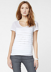 Lacoste Tee-shirt with superimposed pleats in Pima cotton Women