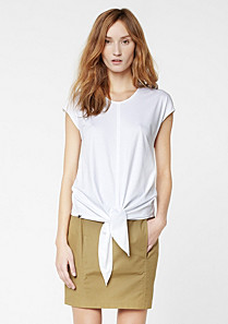 Lacoste Light tee-shirt with tied tails Women