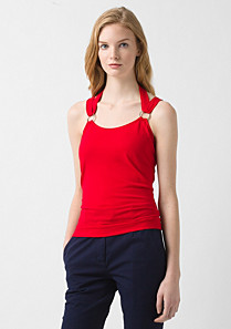 Lacoste Top with crossover straps Women