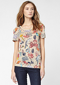 Lacoste Printed tee-shirt with linen Women