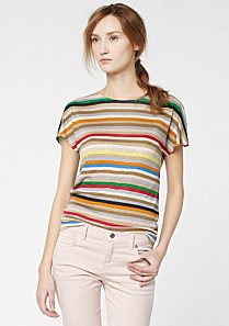 Lacoste Striped tee-shirt with linen Women