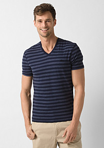 Lacoste Striped V-neck mottled tee shirt Men