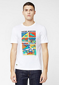 Printed Lacoste Live Ultra slim fit tee-shirt Men