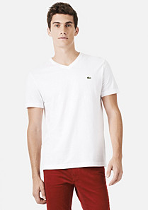 Lacoste Plain V-neck tee-shirt Men
