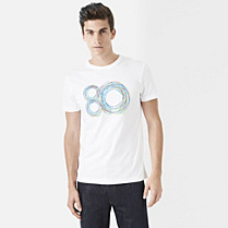 Lacoste 80th Anniversary Edition printed tee-shirt Men