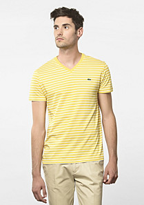 Lacoste Striped V-neck tee-shirt Men