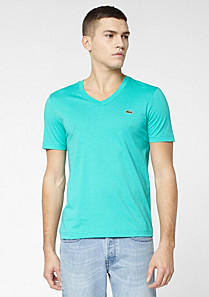 Lacoste Live Ultraslim fit plain V-neck Tee-shirt Men