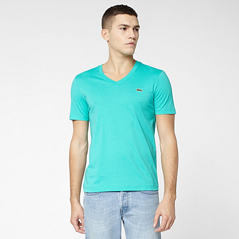Lacoste Live Ultraslim fit plain V-neck Tee-shirt
