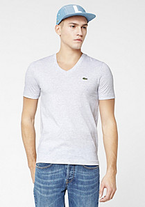 Lacoste Live Ultra slim fit plain V-neck tee-shirt Men