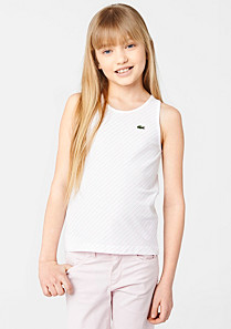 Lacoste Top with diagonal stripes gender.gir