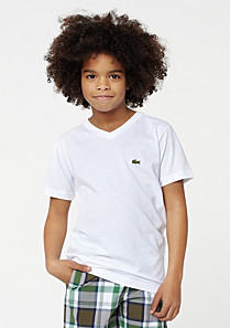Lacoste Plain V-neck tee-shirt Boy