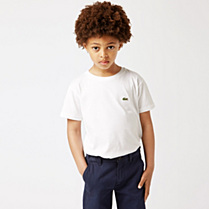 Lacoste Round neck plain tee-shirt Boy