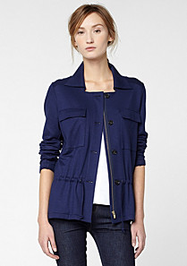Lacoste Short jacket with drawstring waist Women