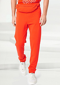 Lacoste Fashion Show fleece tracksuit trousers. Men
