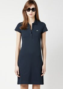 Lacoste Piqué knit polo dress Women