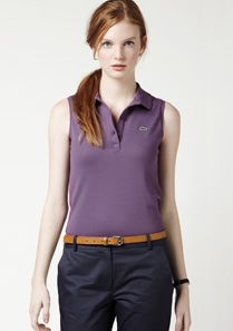 Lacoste Stretch sleeveless polo Women