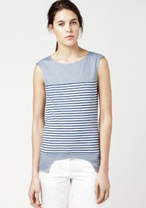 Lacoste Striped sleeveless top Women