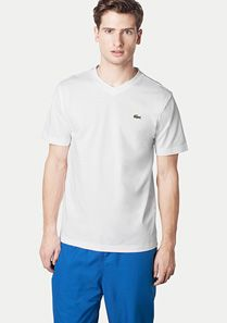 Lacoste Plain V-neck Sport tee-shirt Men