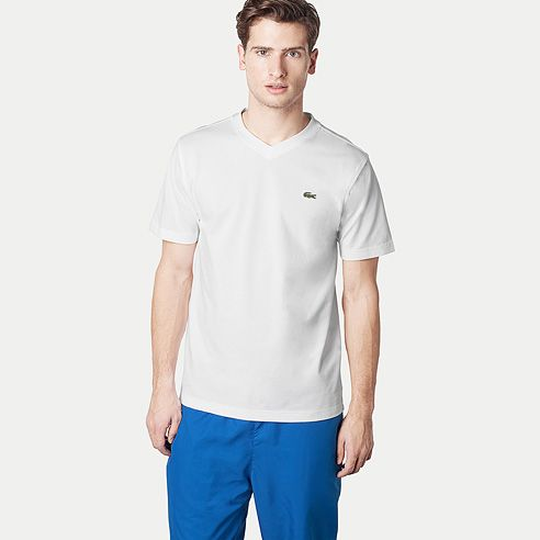 Plain V-neck Sport tee-shirt