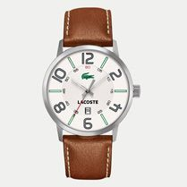 Lacoste Barcelona leather strap watch Men